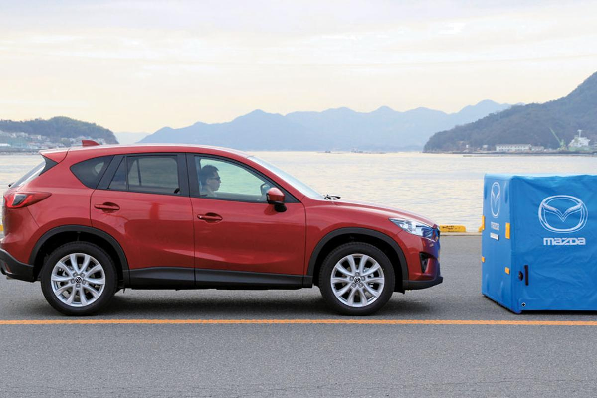 The SCBS system will feature in Mazda's upcoming CX-5 crossover SUV
