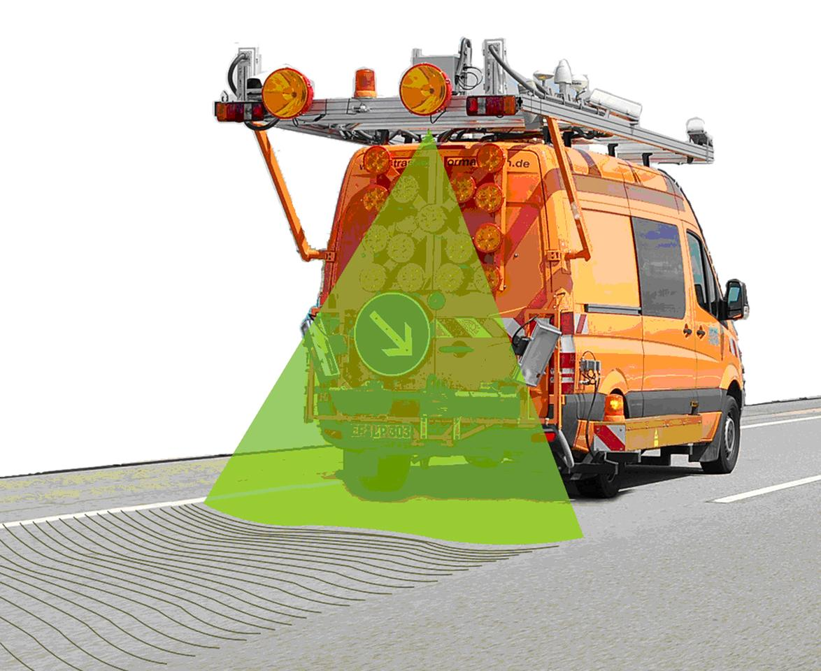 Fraunhofer's actual image of its road-scanning laser technology