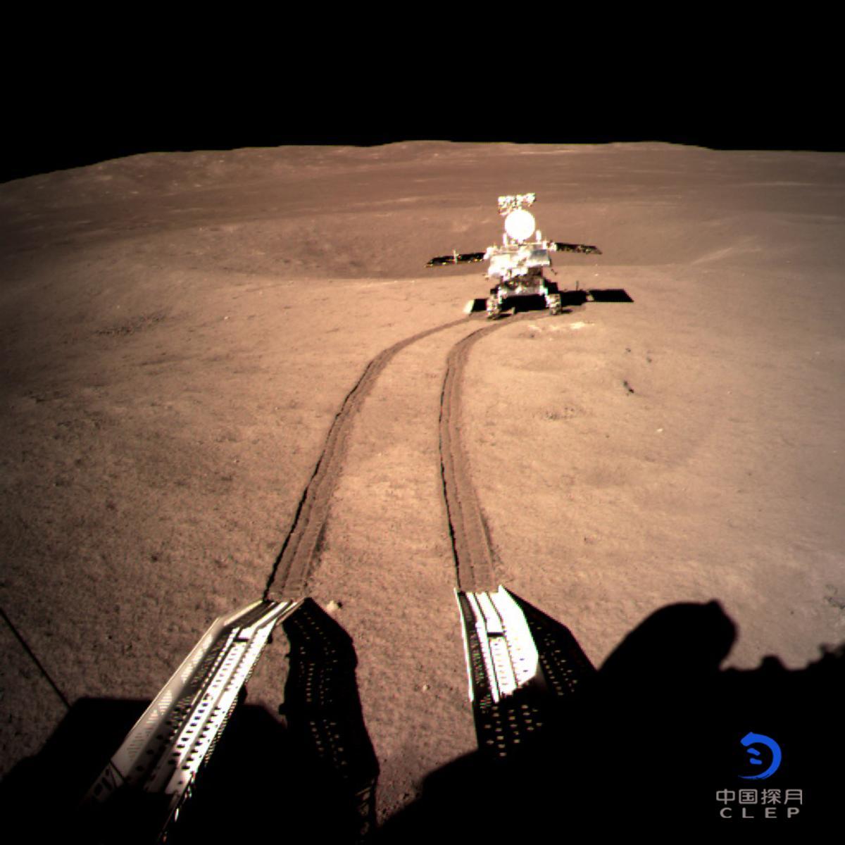 The Yutu 2 lander makes tracks across the Moon's far side