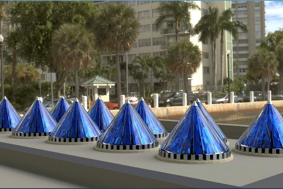 V3Solar has developed a cone-shaped solar energy harvester that is claimed to generate over 20 times more electricity than a flat panel thanks to a combination of concentrating lenses, dynamic spin, conical shape, and advanced electronics