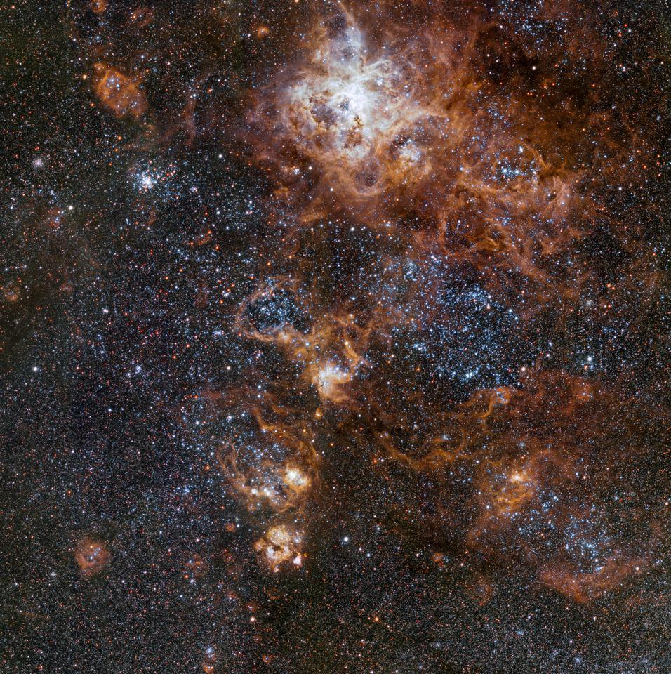 Mosaic view of the Tarantula Nebula and its surroundings