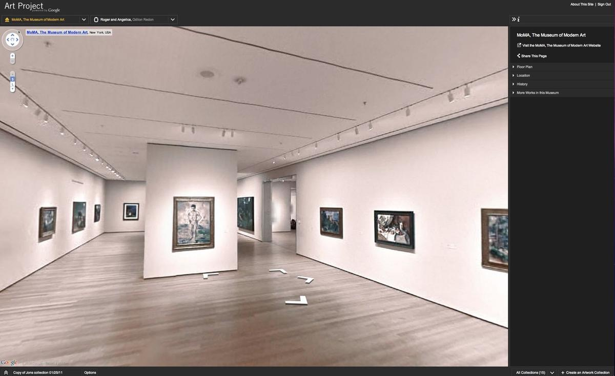 Take a virtual stroll through 17 of the world's most renowned museums, including MoMA, with Google Art Project