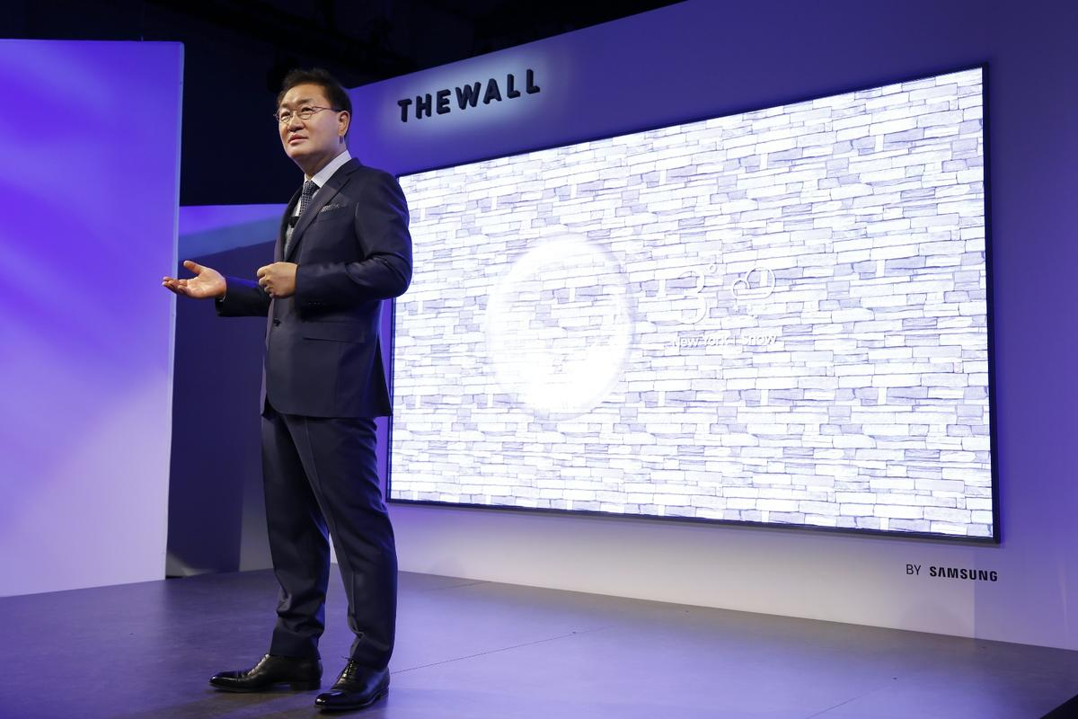 Ahead of CES 2018this weekSamsung has unveiled The Wall, a massive, modular 146-in TV