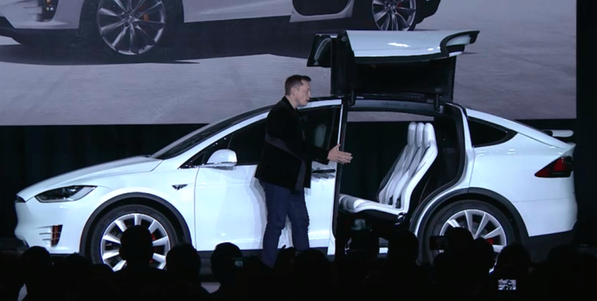 Elon Musk introduces the Tesla Model X