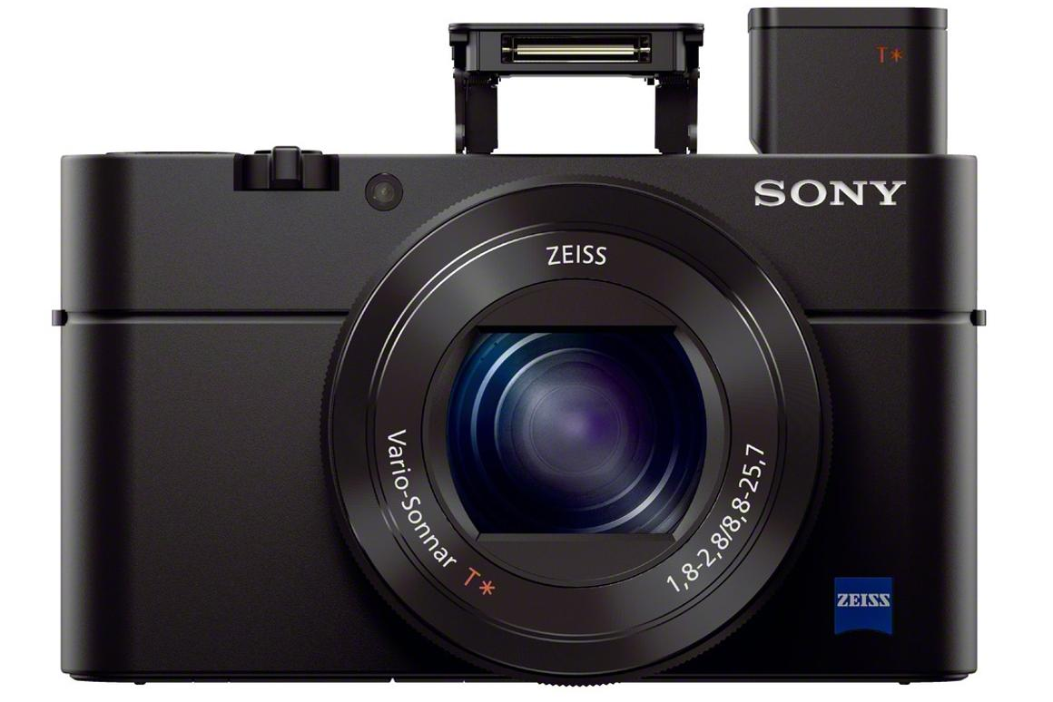 The Sony Cyber-shot RX100 III features a fast zoom lens and a built-in pop-up electronic viewfinder
