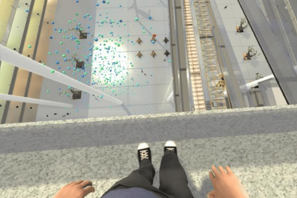 VR therapist helps patients overcome fear of heights in