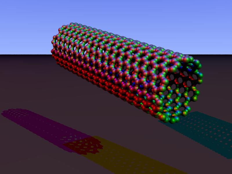 Model of a nanotube (Image: Wikipedia / Arnero)