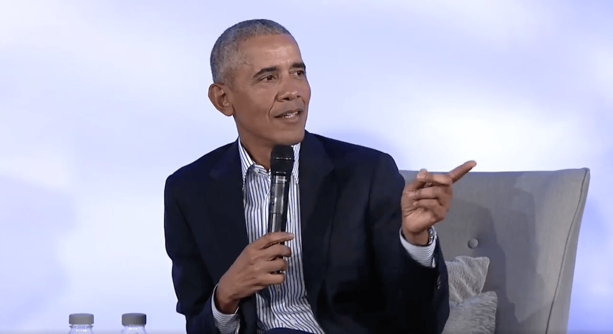 The former President was speaking at the 2019 Obama Foundation Summit