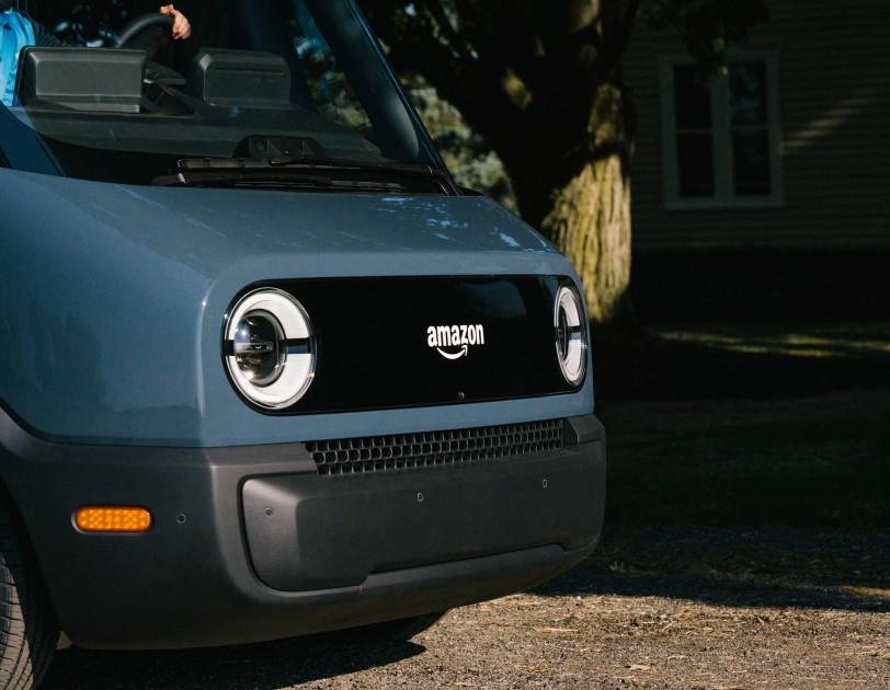 Amazon is showing off what it describes as its first custom electric delivery vehicle