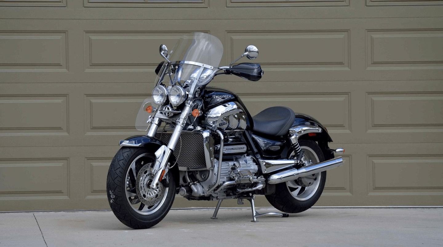 The Triumph Rocket III was one of the bikes which spearheaded the revitalization of the Triumph name, with a stonking 2.3 liter three-cylinder motor and shaft drive. Right now, the landmark machine appears to be at it's cheapest point ever. This one sold in excellent condition for just $5,225  Auction Description