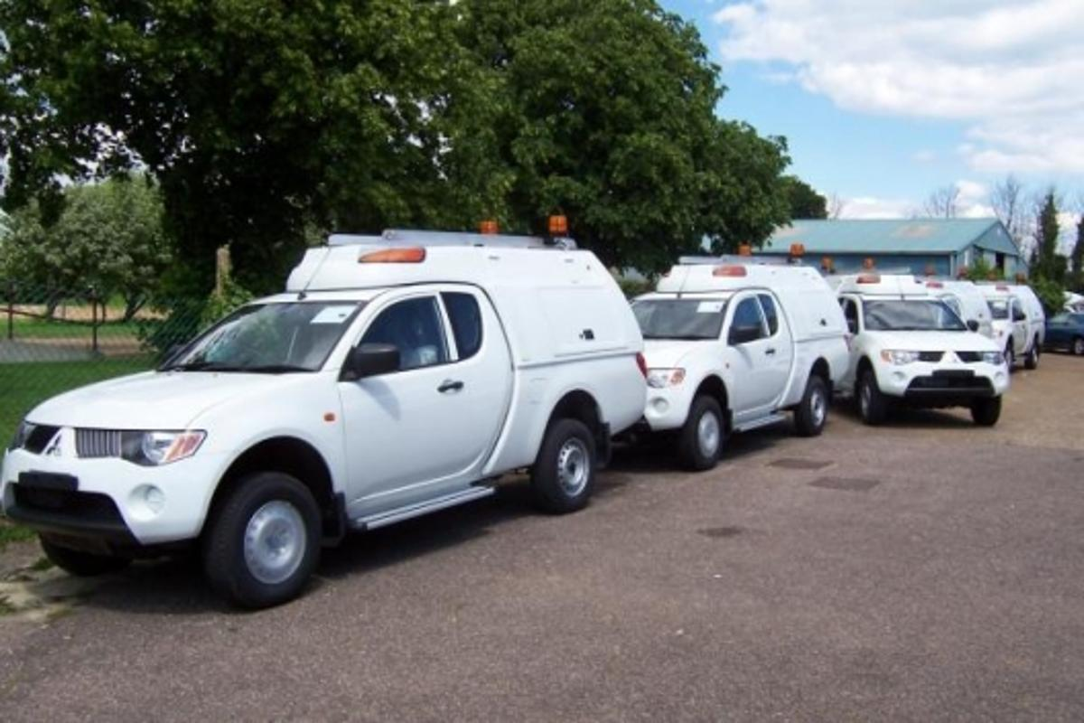 Some of the latest batch of Mitsubishi L200 trucks fitted with Transformer tops
