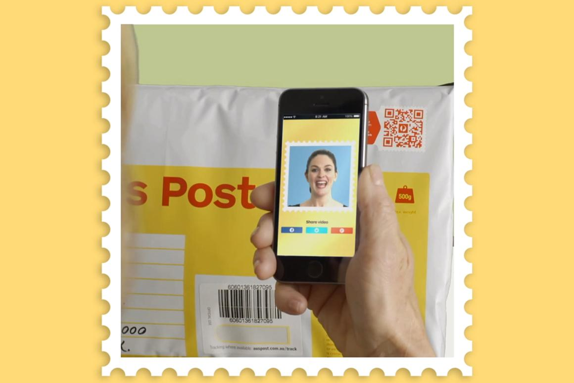 Australia Post's Video Stamp lets gift-givers include a video message with their present