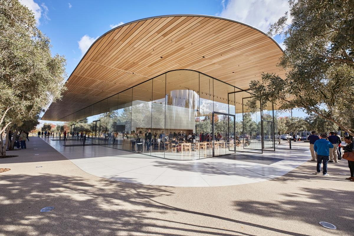 The Apple Park Visitor Center was designed by Foster + Partners