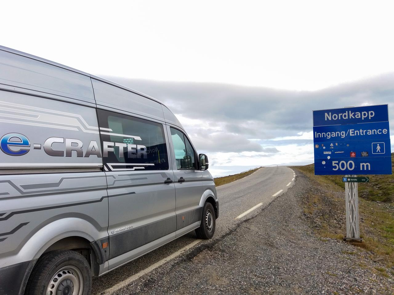 Reaching the destination of Nordkapp (North Cape) on battery power alone