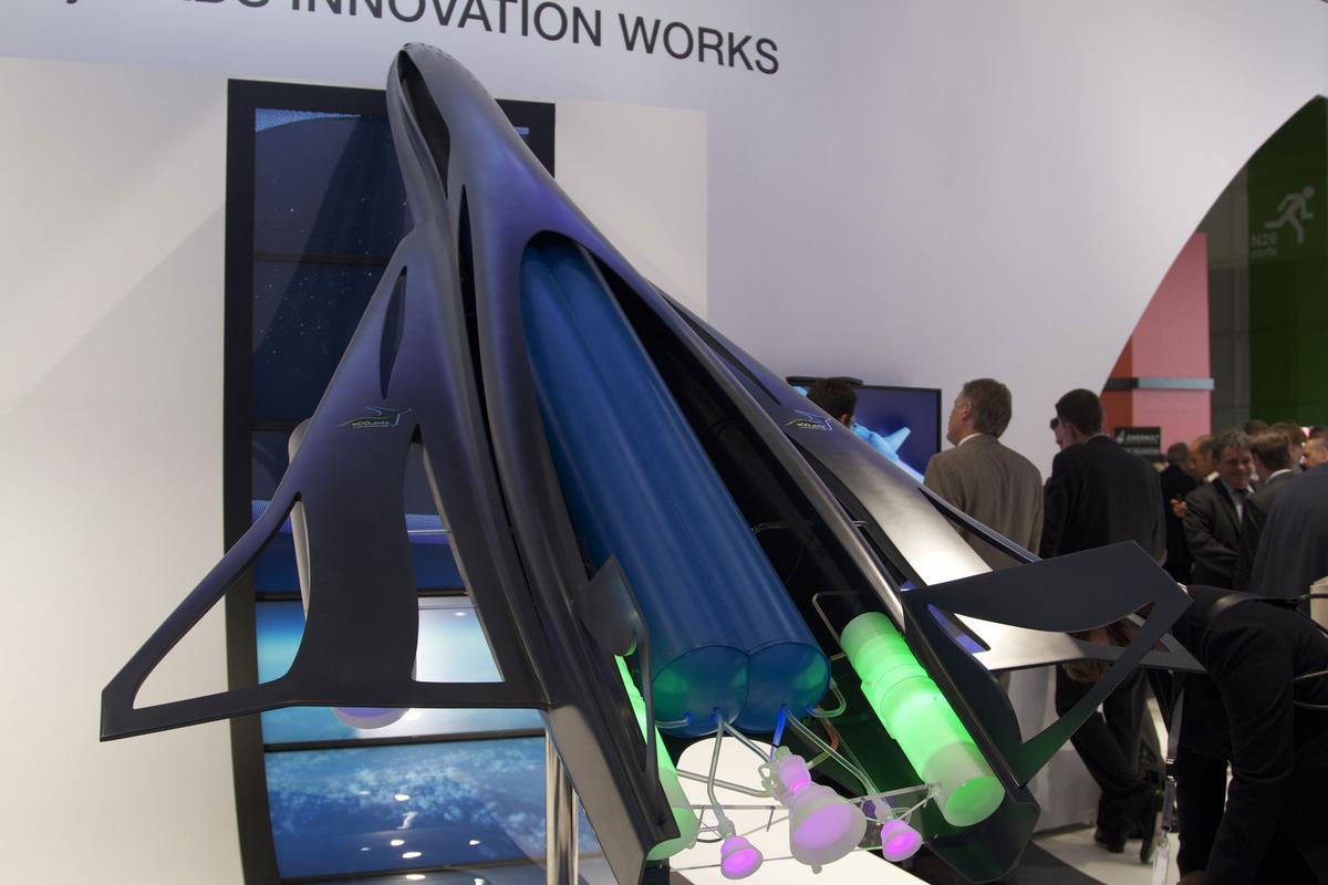 EADS' ZEHST concept plane mock-up at the 2011 Paris Airshow (Photo: Noel McKeegan/Gizmag)