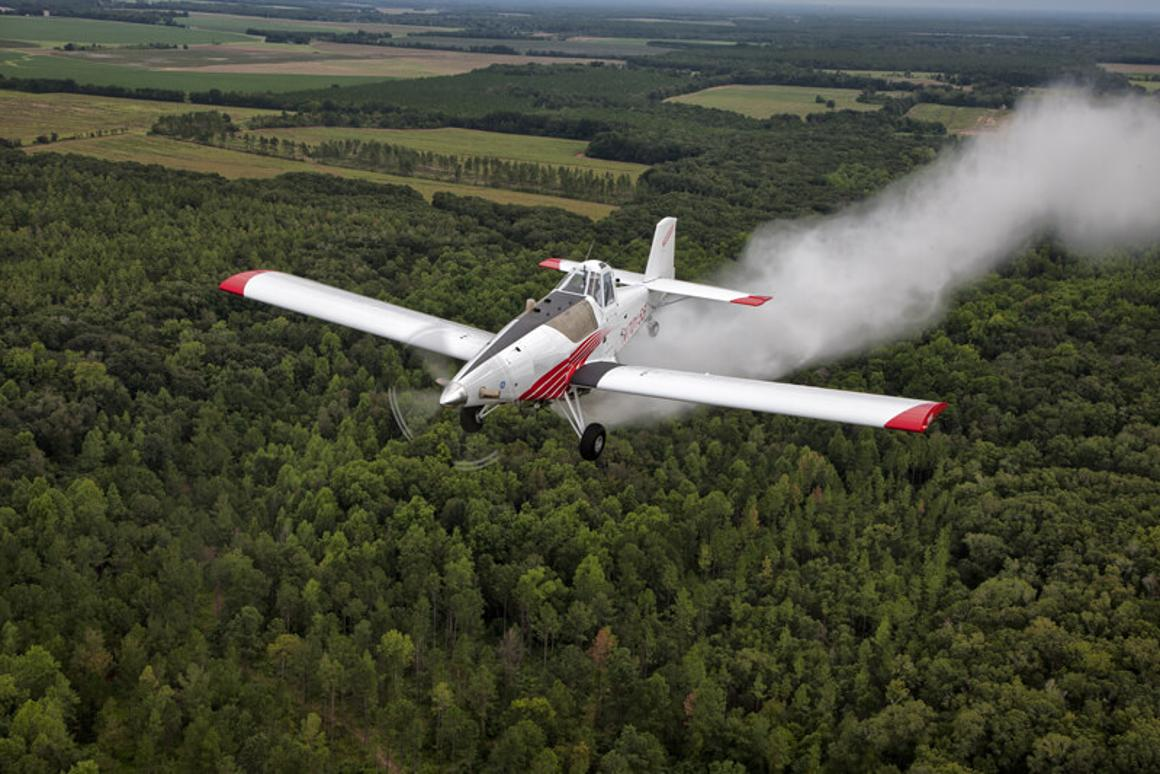 Drone America and Thrush Aircraft are teaming up to develop an autonomous air tanker (manned Thrush 510G pictured)