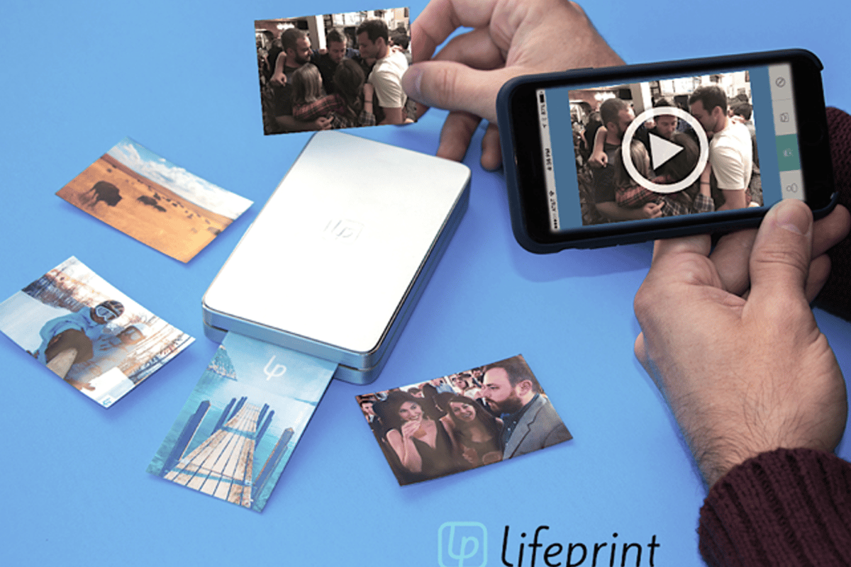 The LifePrint printer and app allows users to create augmented reality photos that can play up to 15 seconds of video with audio