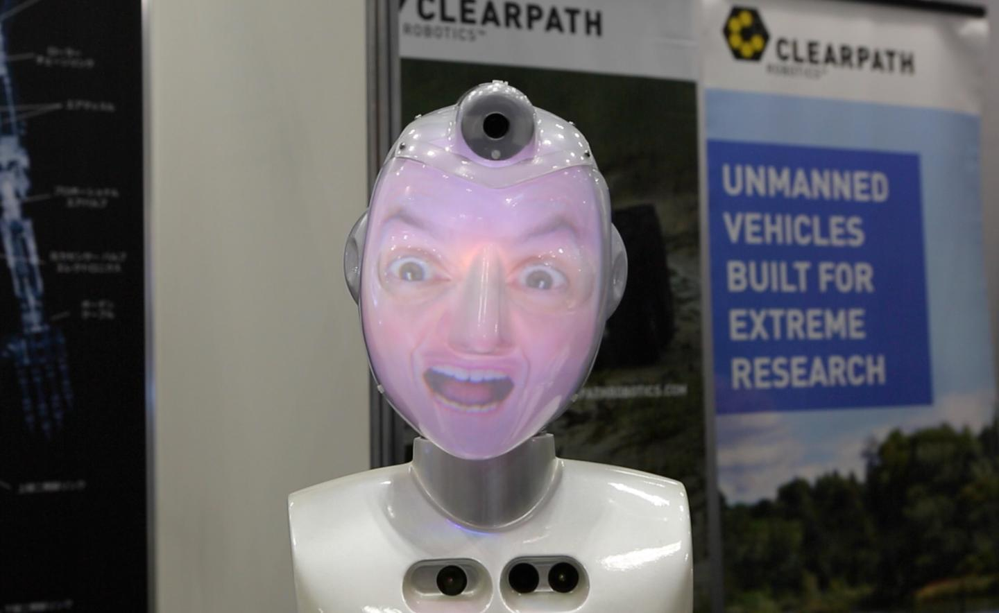 SociBot is capable of displaying a variety of facial identities