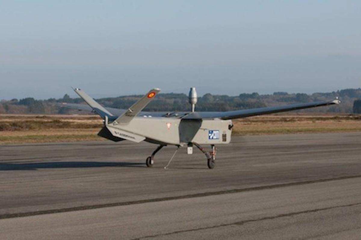 The ATLANTE Unmanned Aerial System on the runway at Lugo