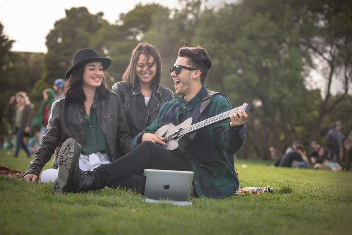The makers of the MI guitar say that most users will be playing along to favorite songs in as little as 5 minutes