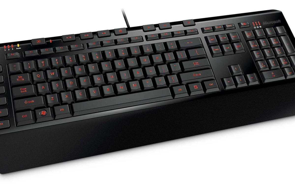 Microsoft's SideWinder X4 Keyboard boasts anti-ghosting technology that can detect up to 26 key presses at once