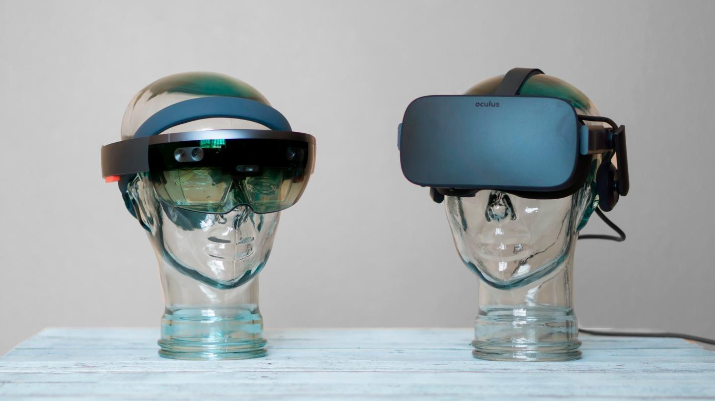 We compare AR like the HoloLens (l) with VRheadsets such as the Oculus Rift – and daydream about where we think this is all heading