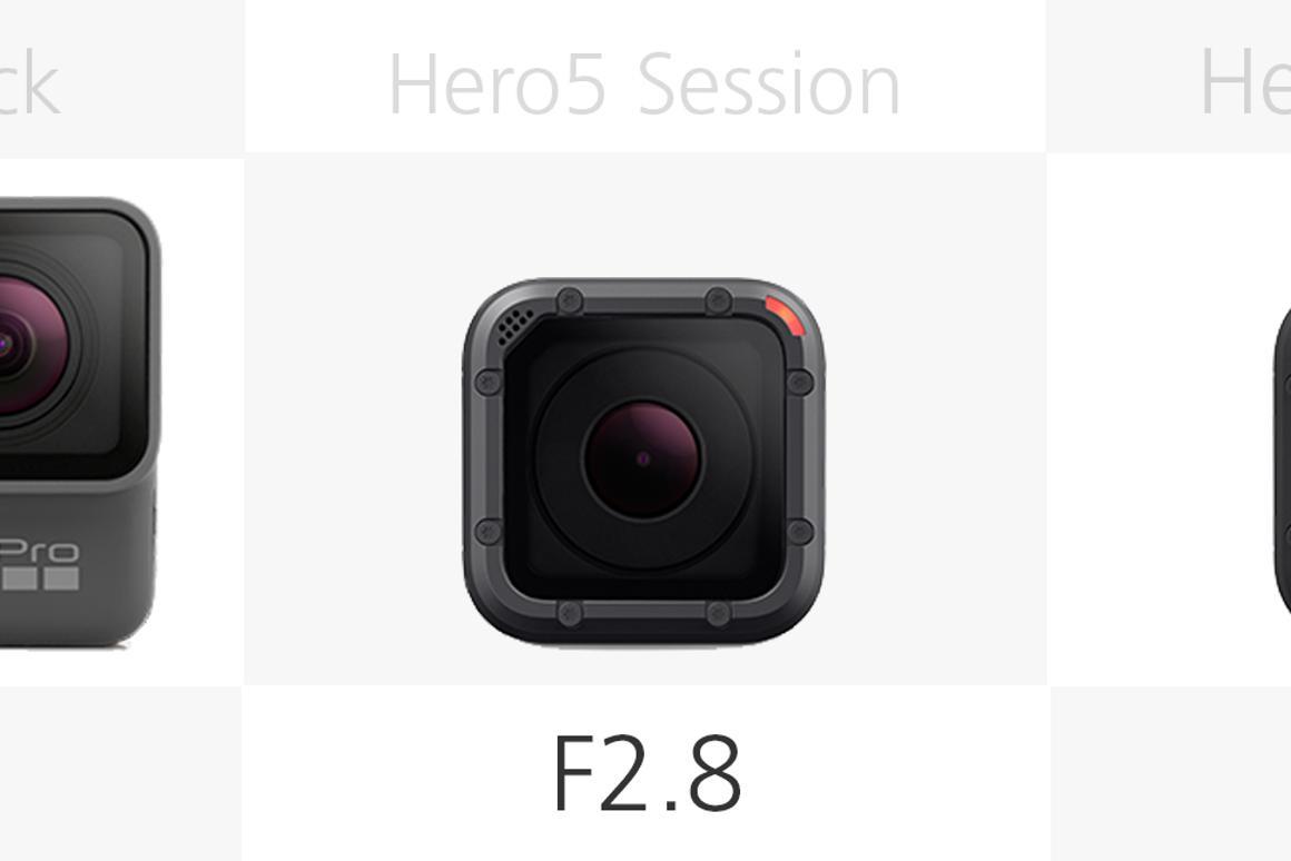 Comparing the current GoPro cameras: Hero5 Black vs  Hero5