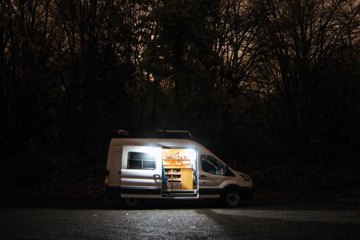 With its three hanging lights and central control panel, the BioLight SolarHome 620 makes a great solution for camper vans