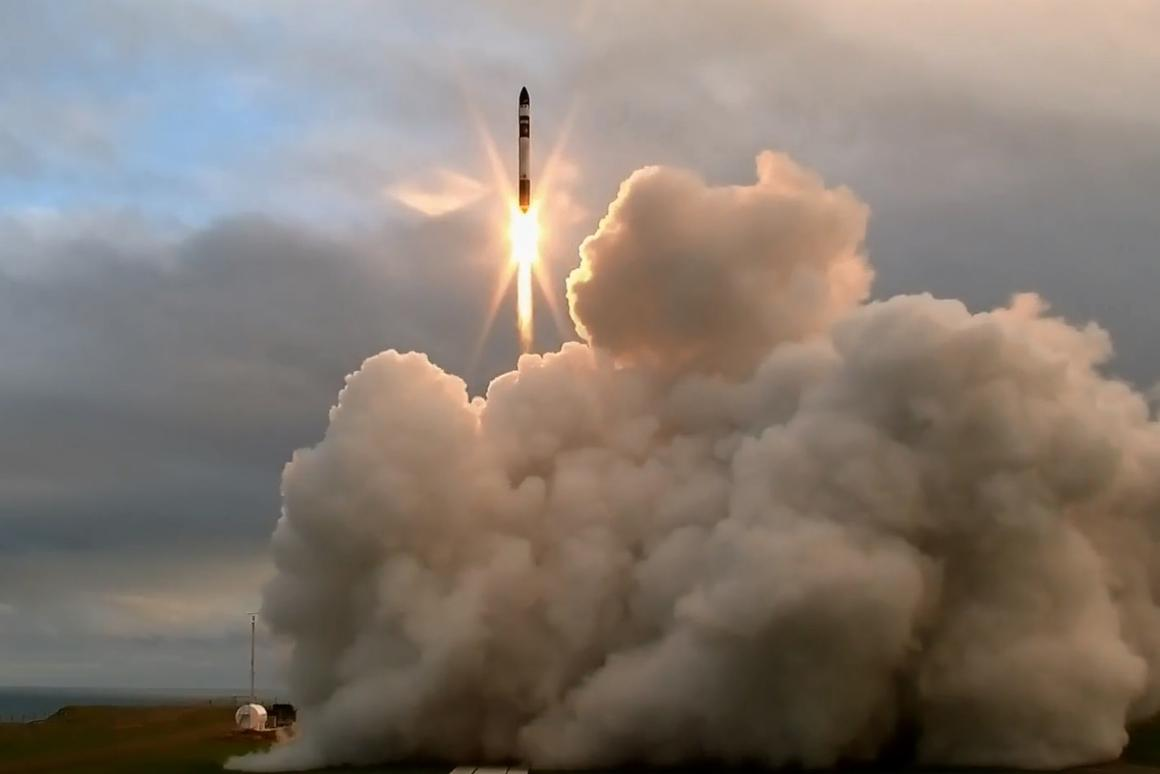 Electron lifting off from its New Zealand base