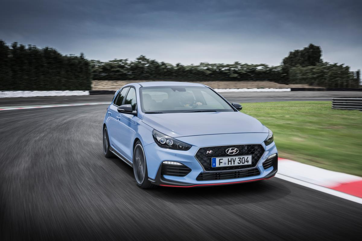 Hyundai got the N logo from the chicane, the ultimate corner on the Nurburgring race track where the company says it's honed the i30 N
