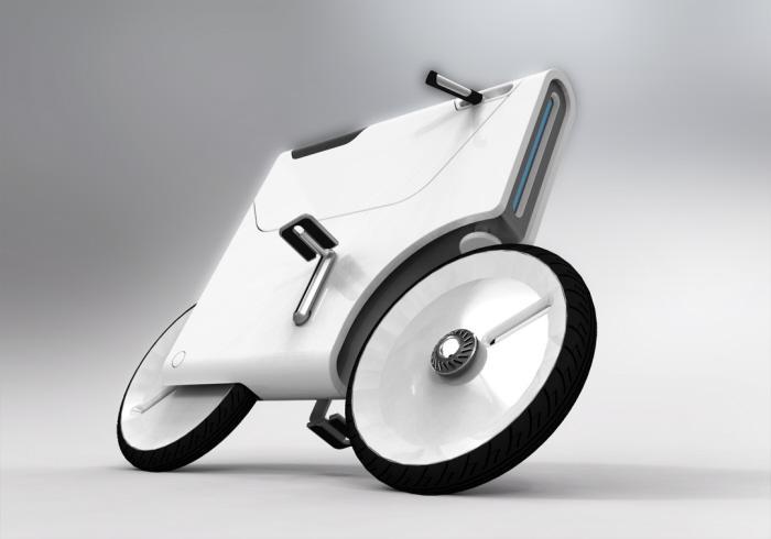 Version one of Yuji Fujimura's electric bike concept