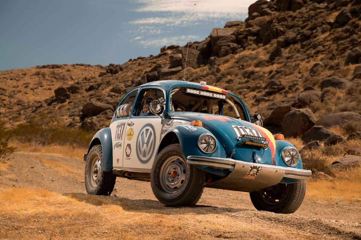 "This 1970 Volkswagen Beetle nicknamed ""Tope"" will be raced in the Baja 1000 this year"