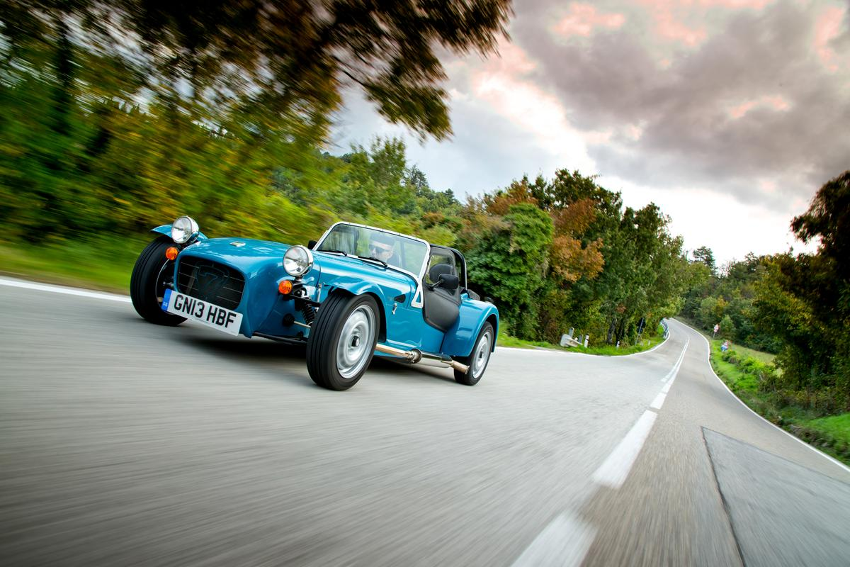 The newest Caterham uses live-axle rear suspension inspired by classic Sevens