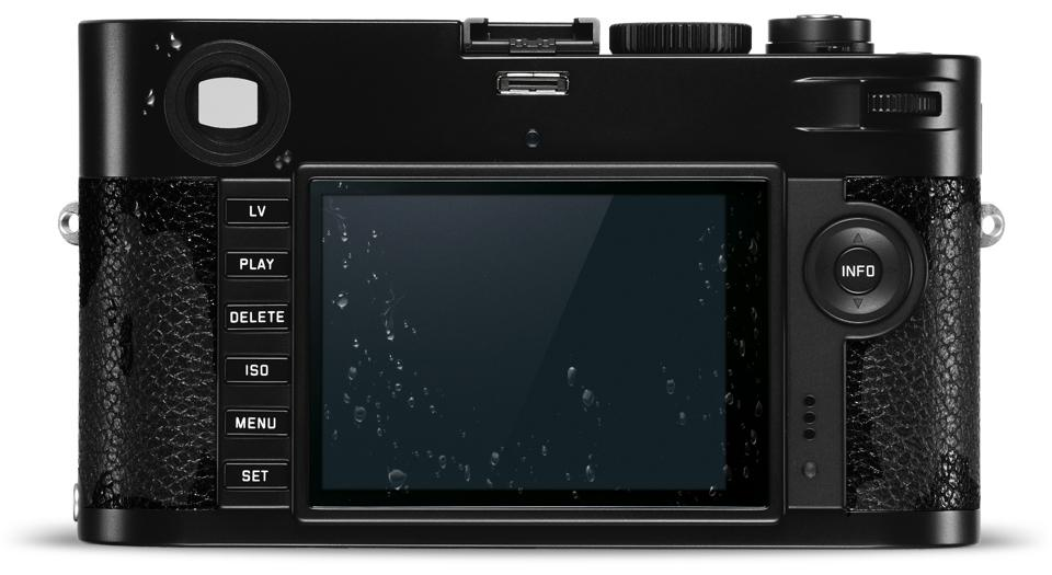 The Leica M-P has a sapphire glass cover on its rear monitor