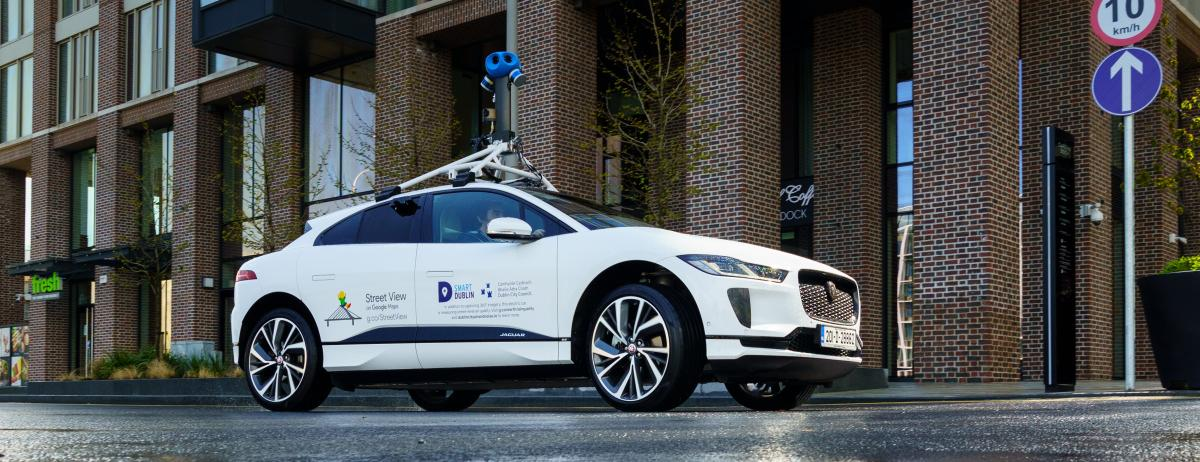 Google has teamed up with with Jaguar Land Rover for its first ever all-electric Street View vehicle