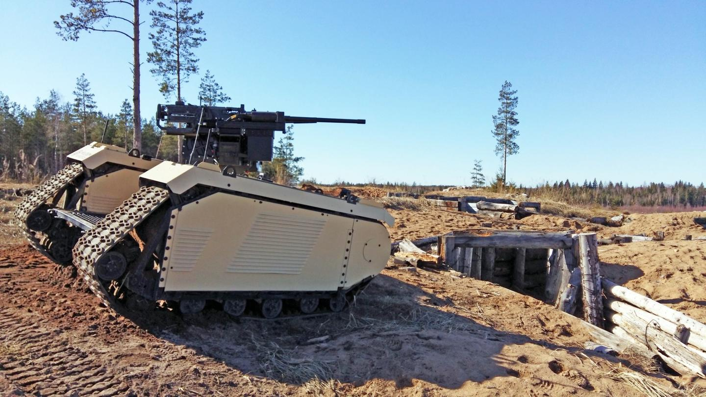 The latest version of the THeMIS UGV has beyond visual line of sight control capabilities