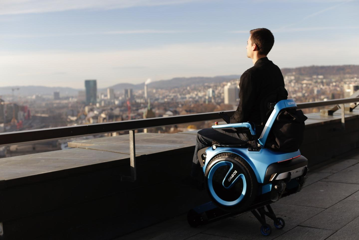 The Elevated Mode allows the rider to be raised up for eye-level communication with others