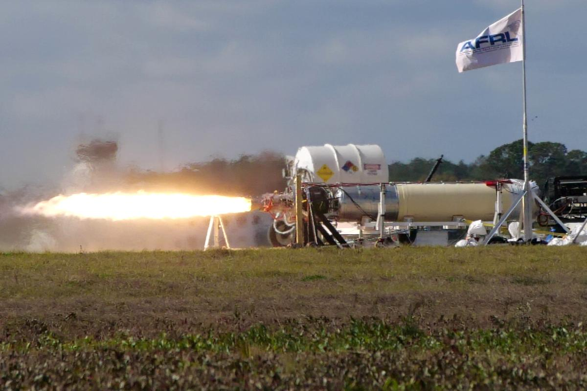 A recent X-60A hot fire test, conducted at Cecil Spaceport in Jacksonville, Florida