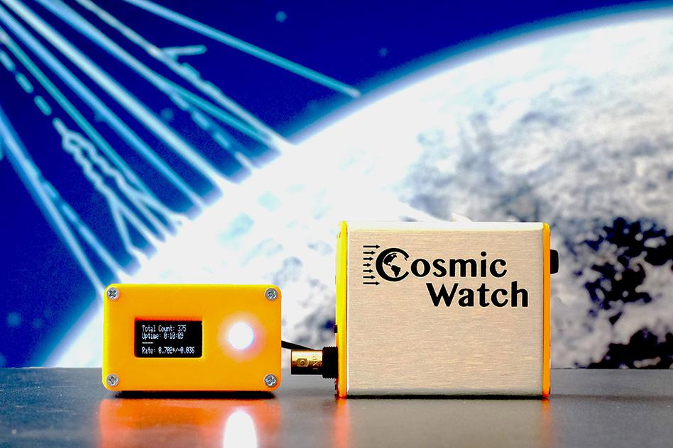 An MIT team has designed CosmicWatch, a pocket-sized, affordable muon detector