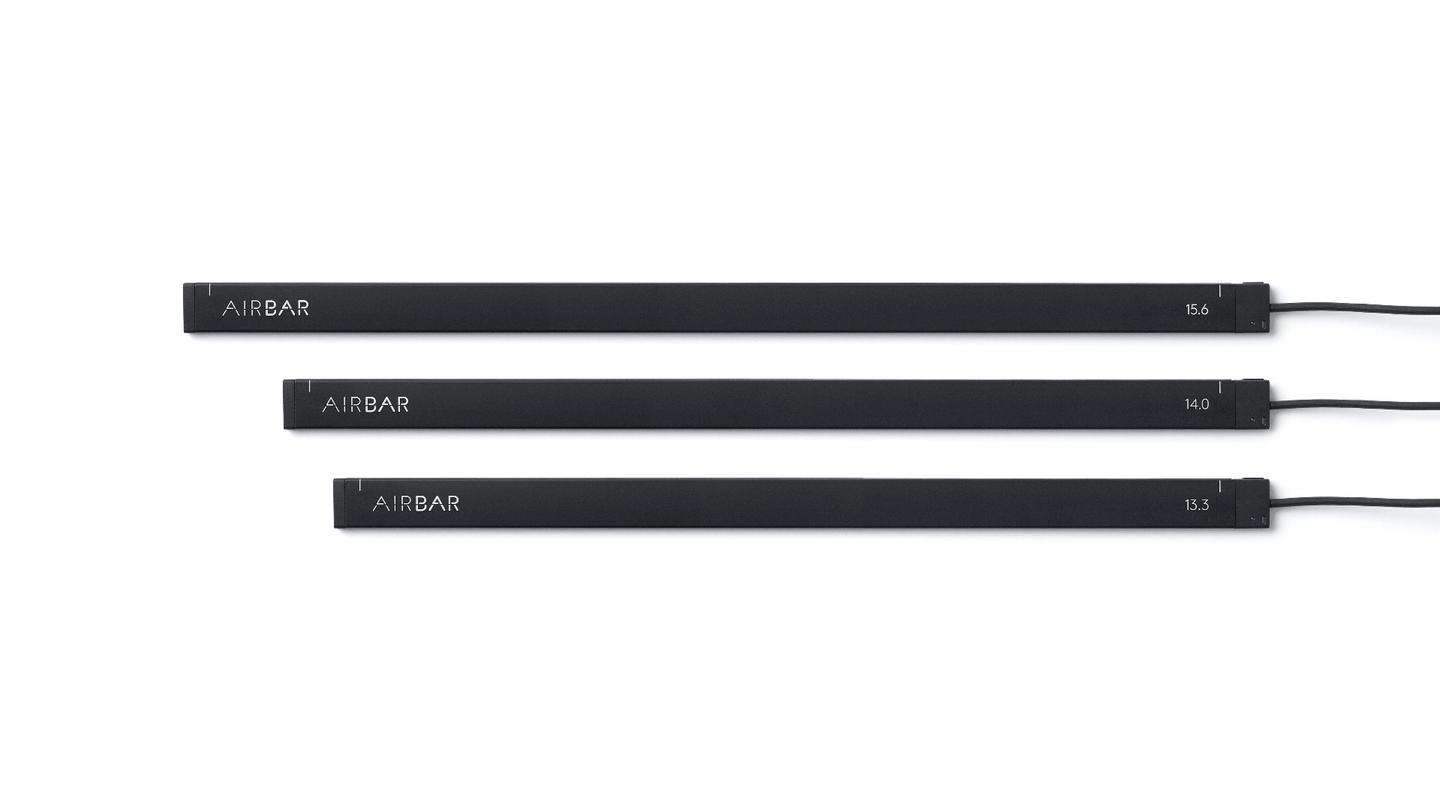 The AirBar comes in three different sizes -15.6 inch, 14 inch and 13.3 inch