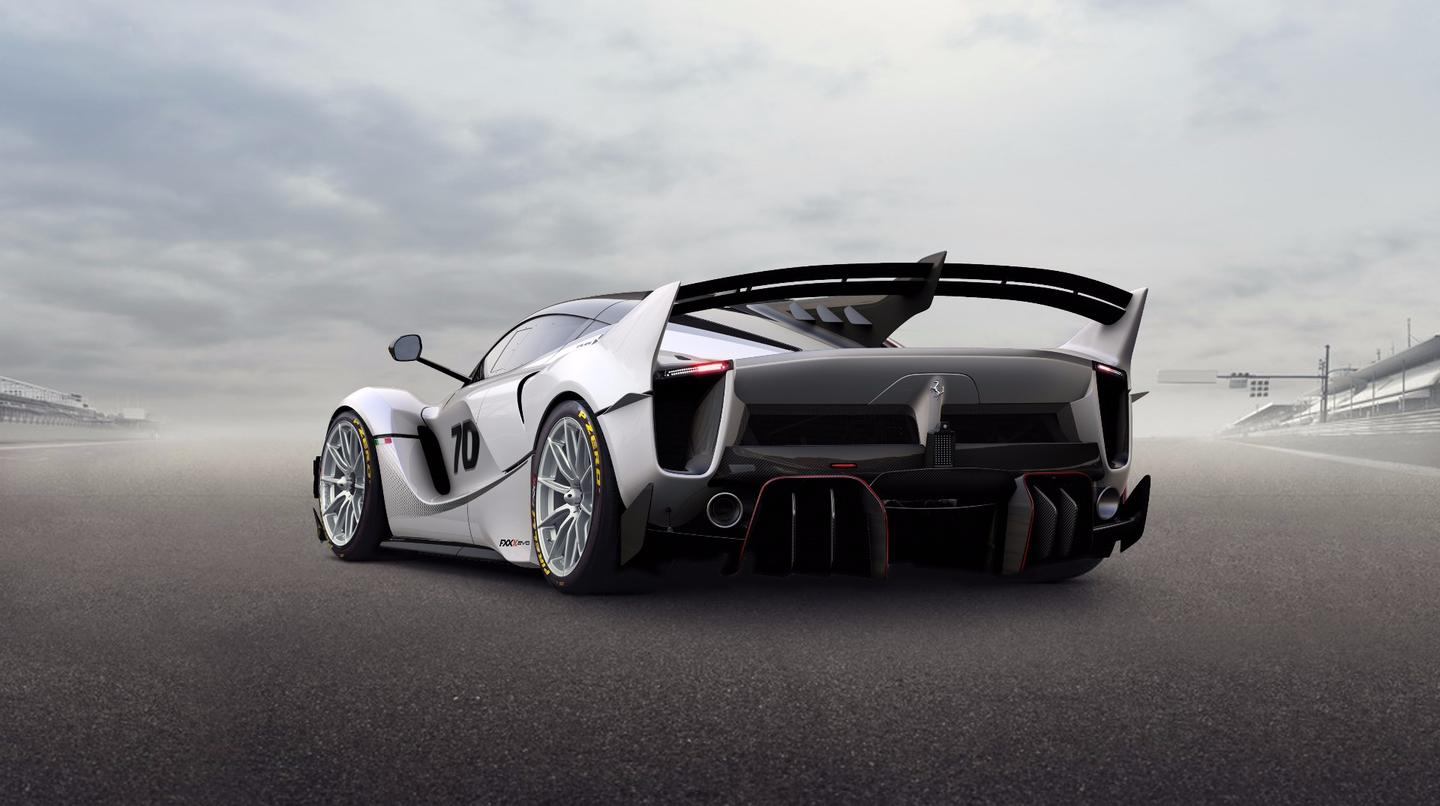 2018 Ferrari FXX-K Evo: revised rear bumpers help squeeze extra downforce out of the diffusers