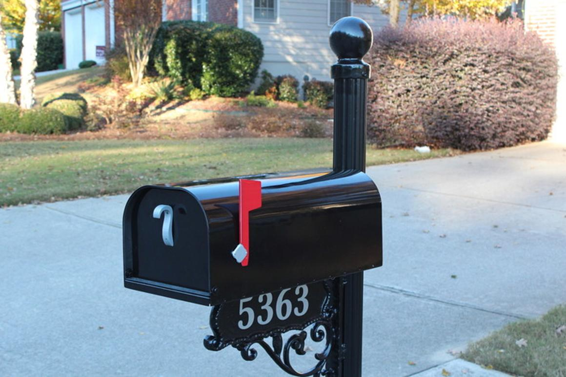 Mr. Postman is a solar-powered mailbox that connects to a home network via Wi-Fi