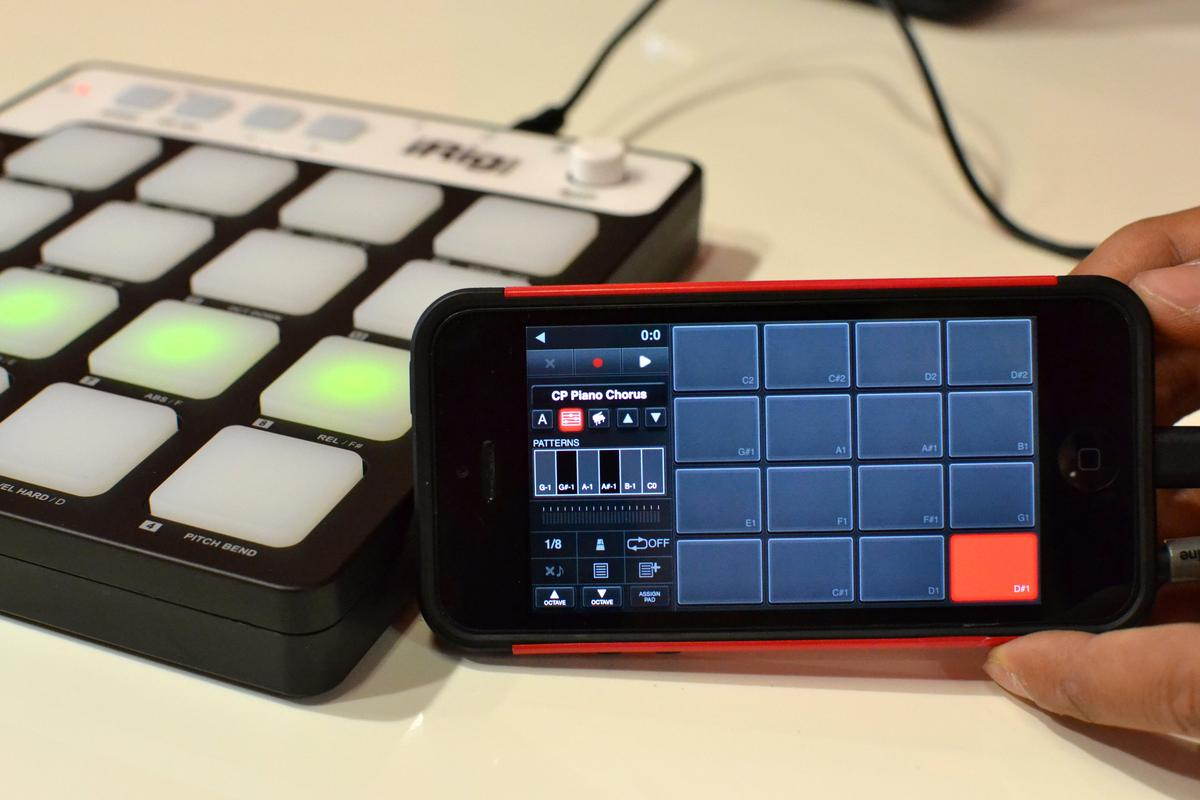 Gizmag was introduced to a pre-release iRig Pads at IFA 2014 (Photo: Paul Ridden/Gizmag)