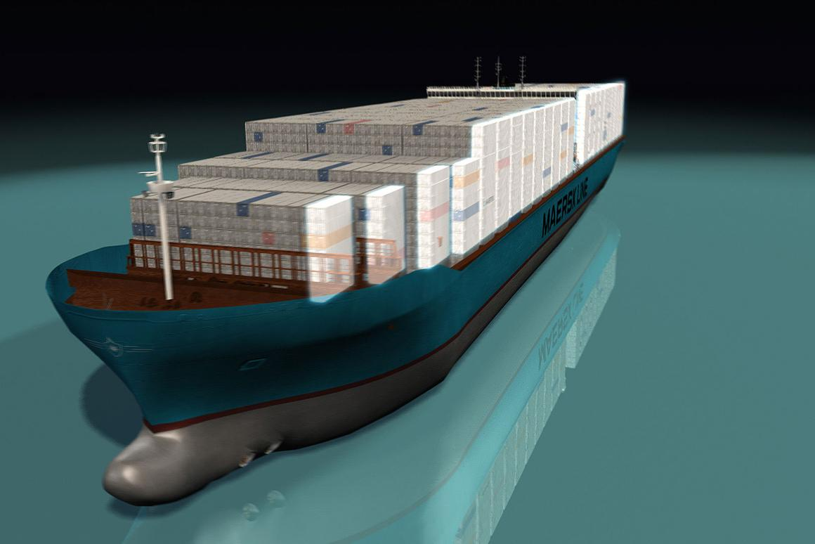 The Triple-E Maersk container ship will be the world's