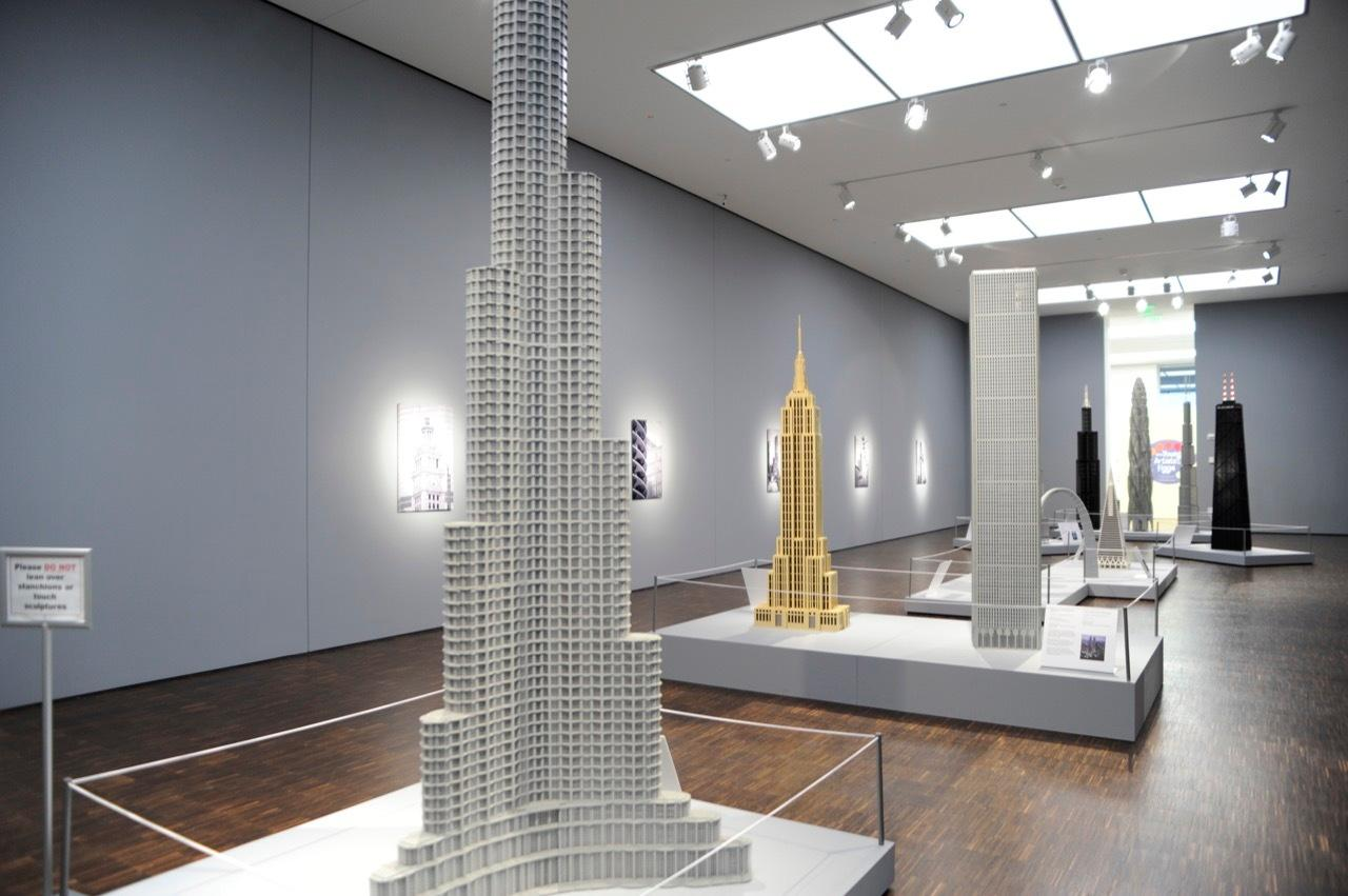 The Lego Khalifa features some 450,000 plastic bricks and rises to a height of 17 ft (5 m) high
