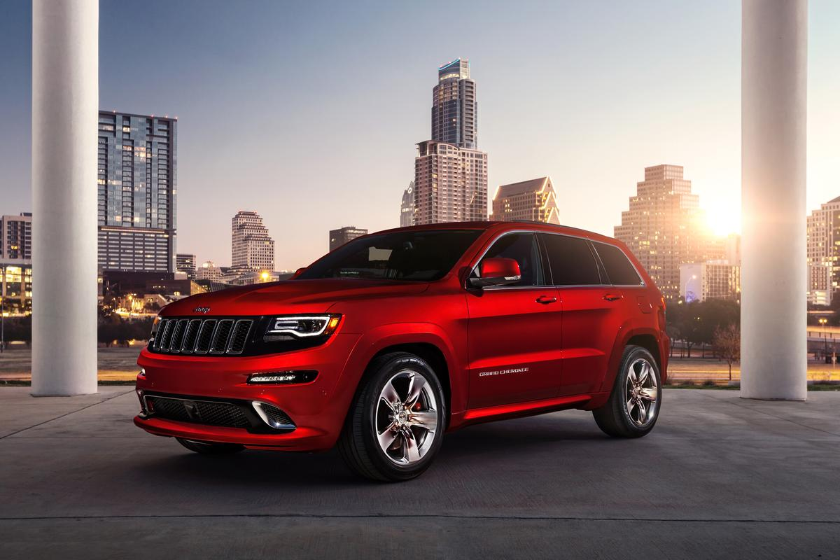 The Grand Cherokee SRT on the street