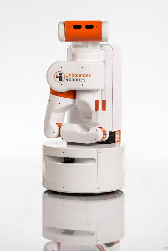 The UBR-1 is a cute little robot designed to perform everyday tasks (Photo: Eric Gulbransen)
