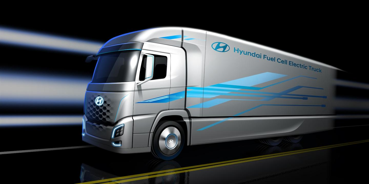 Details on the new Hyundai fuel cell truck are scant, but more will be unveiled in Germany later this month