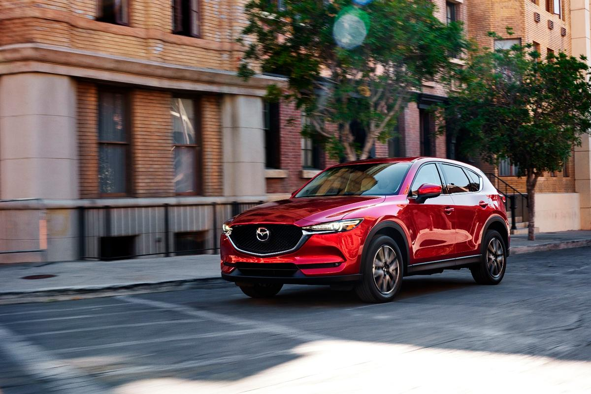 The new Mazda CX-5 has been brought into line with the rest of the range, with slim headlights and a three-dimensional grille