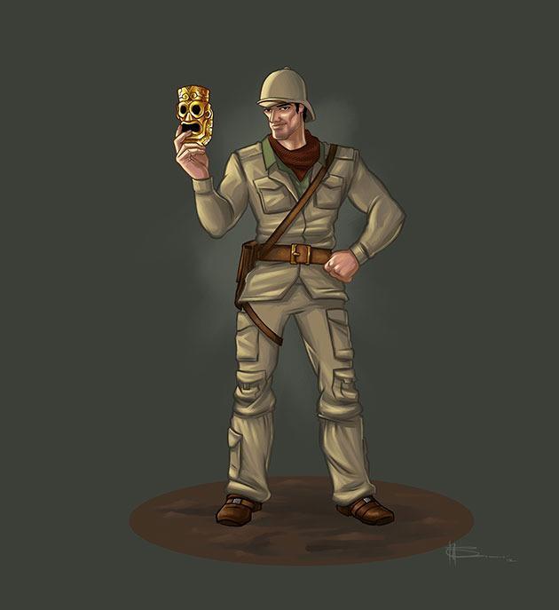 Concept art for Jungle Adventure's hero